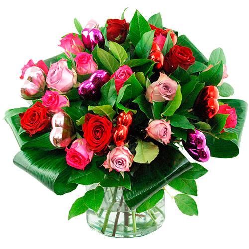 Valentijn boeket mix rozen