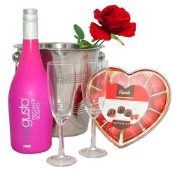 Romantische cadeau met prosecco Rosé