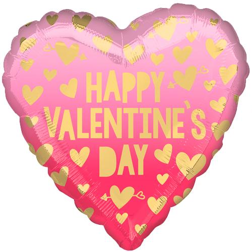 happy valentine's day roze ombré