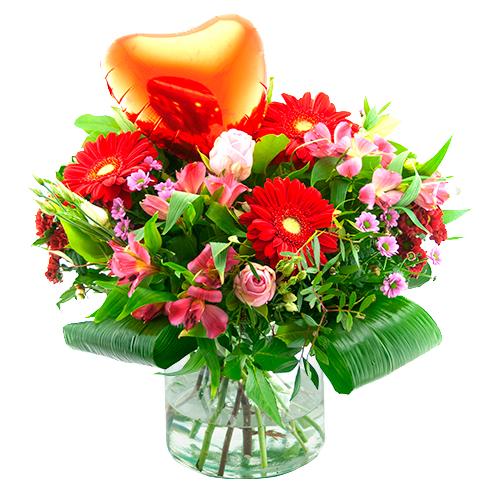 Valentijn boeket met hart