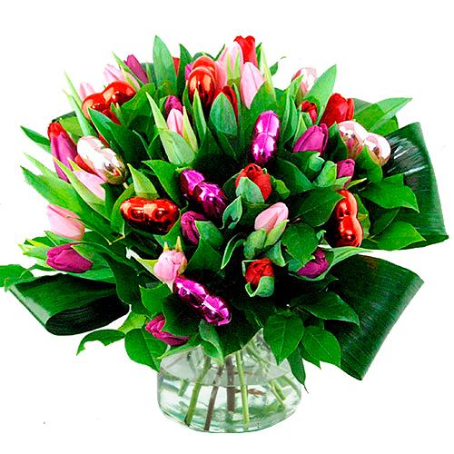 Valentijn boeket tulpen