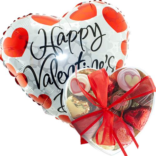 happy valentine's day met valentijn bonbons