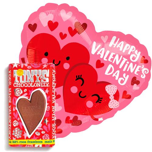 valentijn love hearts ballon met valentijn tony's