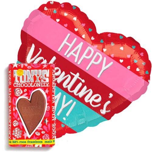 valentijn stripes ballon met valentijn tony's
