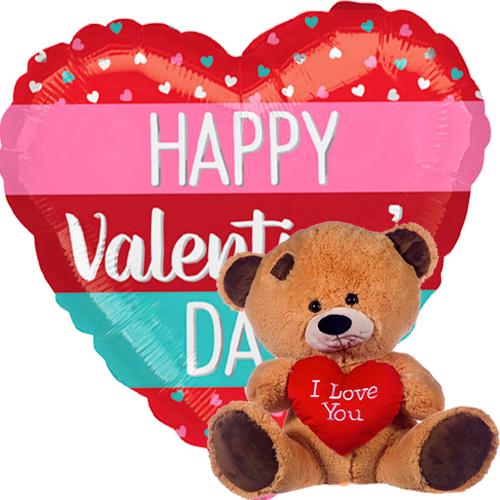 valentine stripes + beertje met hart