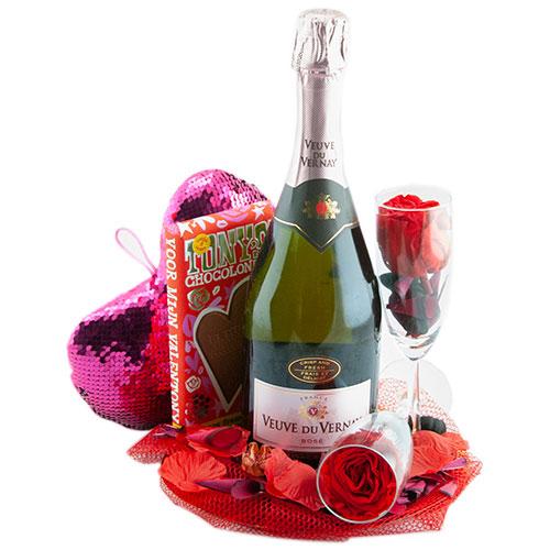 compleet valentijn cadeau veuve du vernay rosé