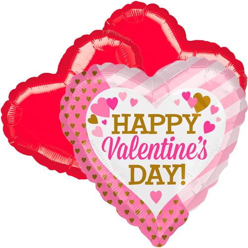 Ballonboeket valentine's day roze goud
