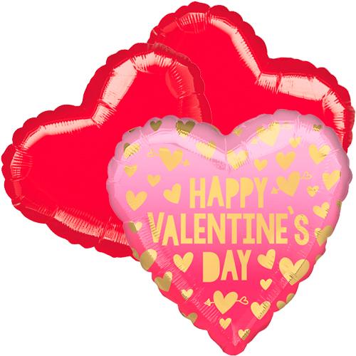 Ballonboeket valentine's day roze ombré